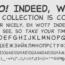 Comic Font: Blather